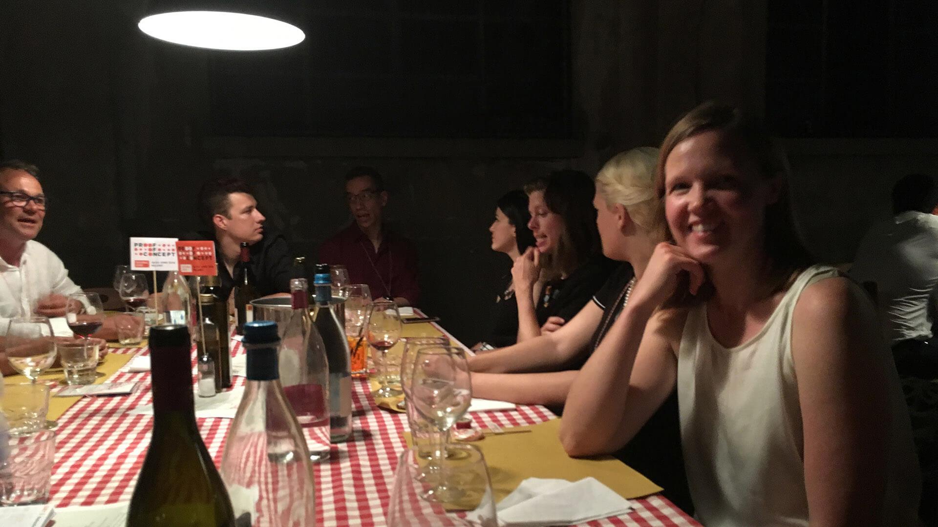 Middag för alla konferensdeltagare sista kvällen