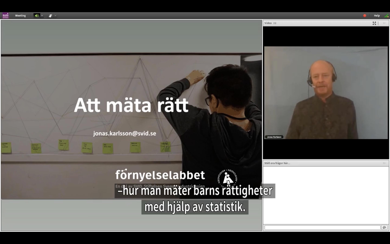 Att mäta rätt – Jonas Karlsson berättar om kvantitativa metoder på Barnombudsmannen